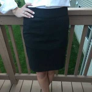 Charcoal gray pencil business skirt size 00